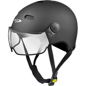cp carachillo e-bike helm zwart - fietshelm met vizier