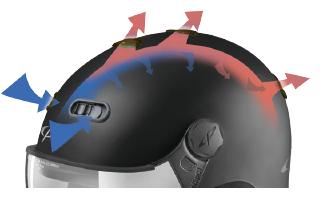 passieve ventilatie skihelm